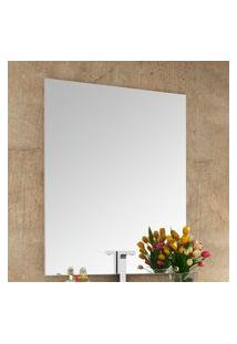 Espelheira Para Banheiro Bosi Pietra 100X80Cm Branca