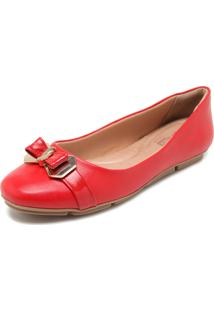 Sapatilha Comfortflex Laço Vermelha