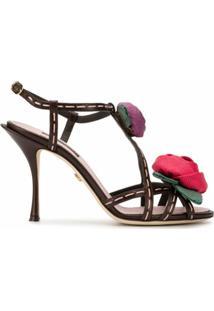 Dolce & Gabbana Sandália Com Aplicação Keira - Rosa