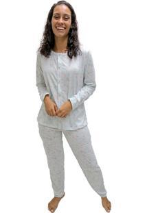 Pijama Longo Mardelle Feminino Aberto Estampado - Estampado - Feminino - Dafiti
