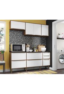 Cozinha Compacta Multimóveis New Paris 2836.925 - Com Balcão 8 Portas 3 Gavetas