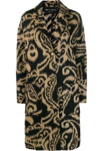 Etro Paisley Patterned Coat - Preto