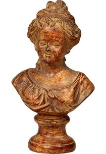 Escultura Decorativa De Resina Busto Cindy