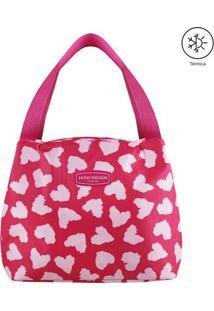 Bolsa Térmica Estampa Corações- Pink & Rosa Claro- 2Jacki Design