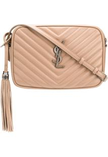 Saint Laurent Lou Quilted-Effect Crossbody Bag - Neutro