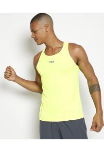 Regata Running Com Flow® & Controle® - Amarelo Neon & Azfila