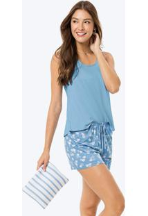 Pijama Azul Claro Nadador Estampado