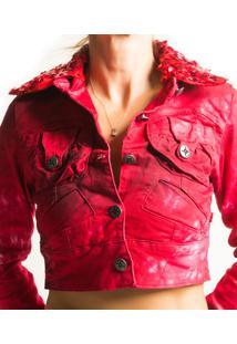 Jaqueta Alvo Da Moda Fole Vermelha