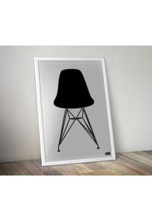 Pôster Cadeira Eames Dsr - Cinza