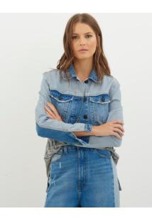 Jaqueta Bobô Gio Jeans Azul Feminina (Jeans Medio, Gg)