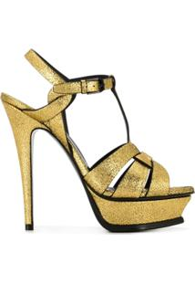 Saint Laurent Sandália 'Tribute' - Dourado