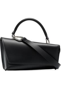 Venczel Black Vx-S Leather Shoulder Bag - Preto