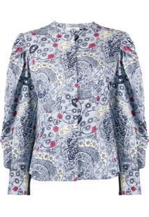 Isabel Marant Étoile Unatil Floral-Print Blouse - Azul