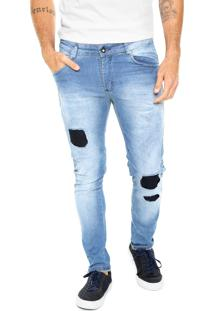 Calça Jeans Fiveblu Reta Cincinnati Azul