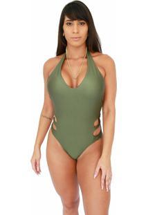 Maiô Corpusfit Seduction - Verde Militar