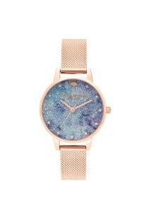 Relógio Olivia Burton Feminino Aço Rosé - Ob16Us44