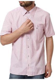Camisa Enzo Vitorino Manga Curta Masculina - Masculino-Vermelho