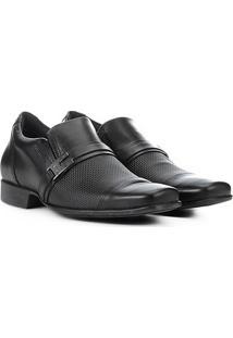 Sapato Social Couro West Coast Valentino - Masculino-Preto