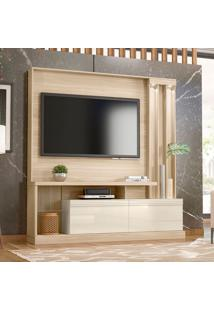 Estante Para Home Theater E Tv Até 63 Atlanta Macchiato E Off White
