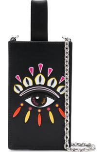 Kenzo Porta Celular Eye Com Alça De Corrente - Preto