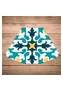 Jogo Americano Para Mesa Redonda Wevans Mandala Green Kit Com 6 Pçs