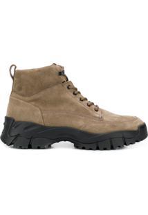 Tod'S Ankle Boot Com Cadarço - Cinza