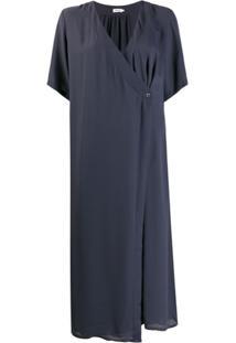 Filippa K Vestido Midi Envelope Amalia - Azul