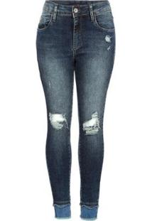 Calça Jeans Brix Cropped Feminina - Feminino