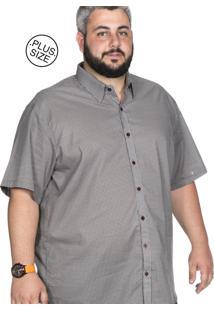 Camisa Plus Size Bigshirts Manga Curta Estampada - Hexagon