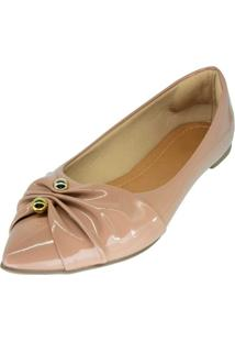 Sapatilha Hope Shoes Bico Fino Bege