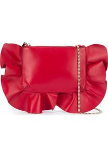 Red Valentino Blusa Ombro único Com Acabamento De Babados - Vermelho