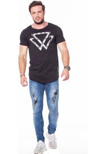 Camiseta Oversized Básica Tree Triangle
