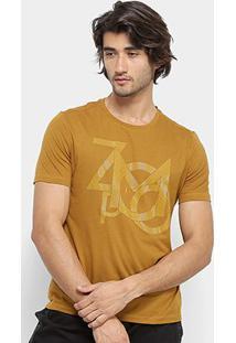 Camiseta Zoomp Lettering Masculina - Masculino-Amarelo Escuro