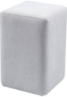 Puff Box Cashier Cinza Retangular 46 Cm (Alt) - 50751 - Sun House