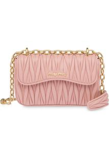 Miu Miu Matelassé Shoulder Bag - Rosa