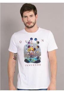Camiseta Masculina Queen Innuendo - Masculino-Branco