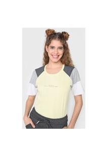 Camiseta Tricats Bit More Amarelo/Cinza