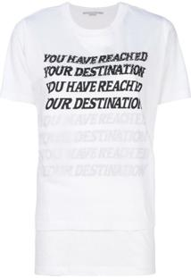 Stella Mccartney Blusa 'You Have Reached Your Destination' - Branco