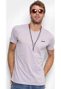 Camiseta Colcci Bolso Masculina - Masculino-Lilás
