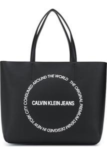 Calvin Klein Jeans Large Logo Tote Bag - Preto