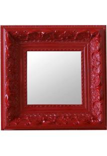 Espelho Moldura Rococó Raso 16146 Vermelho Art Shop