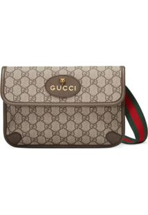 Gucci Pochete Gg Supreme - Marrom