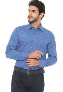 Camisa Yacht Master Reta Slim Azul