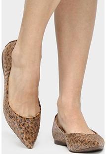 Sapatilha Shoestock Bico Fino Bordado Onça - Feminino