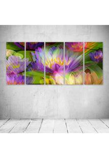 Quadro Decorativo - Flower - Composto De 5 Quadros - Multicolorido - Dafiti