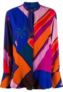 Ps Paul Smith Blusa Com Estampa Geométrica - Neutro