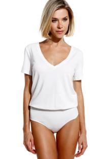 Body Le Lis Blanc Candice Ii Malha Off White Feminino (Off White, G)
