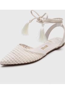 Sapatilha Santa Lolla Tassel Off-White