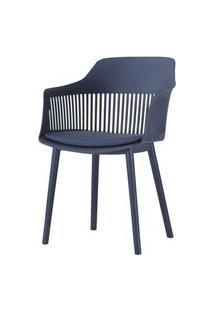 Cadeira Leslie Polipropileno Marinho - 58270 Preto