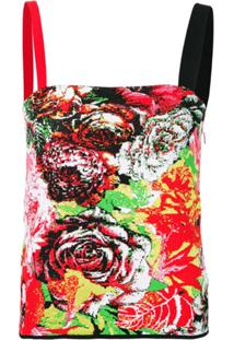 Versace Regata Jacquard Floral - Vermelho